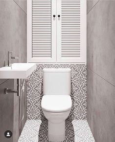 Women's Bathroom: Incredible and Creative Decor Ideas - Home Fashion Trend Small Downstairs Toilet, Small Toilet Room, Bathroom Design Luxury, Bathroom Design Small, Turquoise Bathroom Decor, Home Depot Toilets, Toilette Design, Wc Design, Natural Bathroom