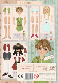 Peter Pan and Wendy Paper toyKids' Craft set classic by Oxfordoll