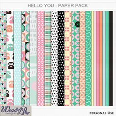 Hello you Papers | WendyP Designs