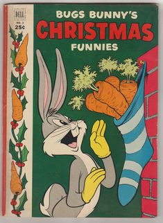 Dell Giant Bugs Bunny s Christmas Funnies FR Christmas Comics, Christmas Books, Christmas Humor, Vintage Christmas, Vintage Comic Books, Vintage Cartoon, Vintage Comics, Cartoon Posters, Disney Posters