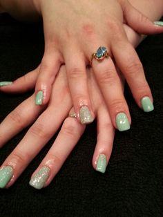 Gelish gel polish nail art by Gloria Weber