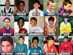 Football stars kids