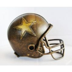 Dallas Cowboys NFL Helmet Statue/Sculpture by Tim Wolfe-Desk top Decoration