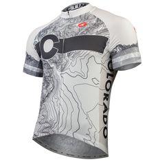Colorado Topo Cycling Jersey Men's | Bike Jerseys for Men | Pactimo
