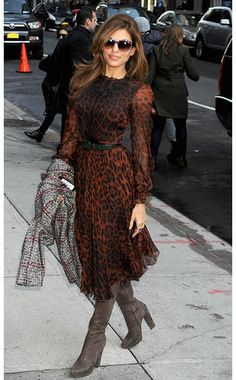 Eva Mendes in Dolce and Gabanna :) love her sunglasses too!