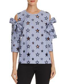 SANDRO Sandro Meline Cold-Shoulder Top. #sandro #cloth #