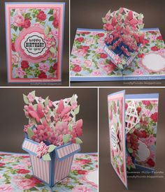 Summer Hills-Painter using the Pop it Ups Flower Pot Pop Stand die set, plus Occasions Clear Stamps and Labels & Circles by Karen Burniston for Elizabeth Craft Designs.