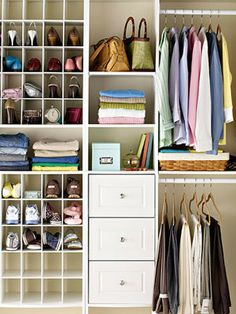 Love double vertical hanging, any built in dresser. Don't need that much shoe space though. Closet organization.