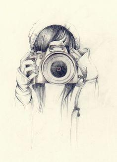 Deux passions combinées: photographie et dessin. À vos crayons et...souriez!!!