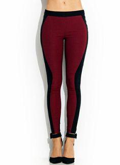 Hourglass Contrast Skinny Pants