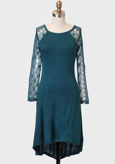 Jasmine Lace Accent Sweater Dress -- so pretty!  love the color and the sleeves.