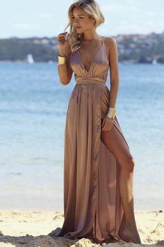 Catwalk Maxi Dress Mocha