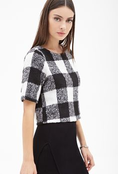 Shaggy Plaid Top | FOREVER21