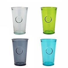 Grehom Recycled Glass Tumblers (Set of 4) - Motley