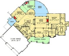 Plan W15626GE: Photo Gallery, Vacation, Luxury, Craftsman, Corner Lot, Mountain, Premium Collection House Plans & Home Designs
