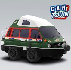 Volkswagen Transporter in Car Town Top Gear, Volkswagen Transporter, Car Photos, Cartoon Styles, Hot Wheels, Baby Cars, Van, Vehicles, Artwork