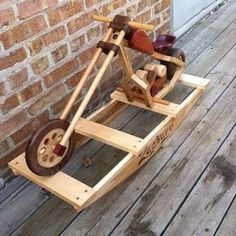 Zachs Rockin' Chopper Woodworking Toys, Woodworking Projects, Wood Crafts, Diy And Crafts, Wood Projects, Projects To Try, How To Make Toys, Wooden Art, Wood Toys