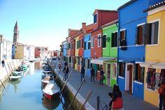 Bunte Häuser Burano Venedig Italien
