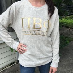 We've taken that timeless bar design, given you the chance to customize for your sorority, and put it on our super comfy cozy poodle fleece sweatshirt!