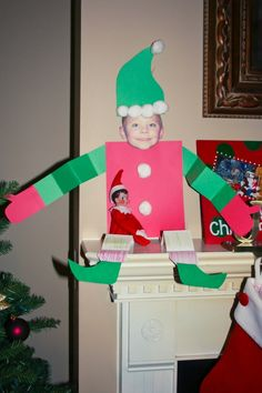 Elf on shelf with an elf that looks like someone in the family!