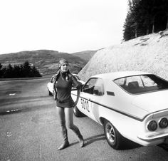 Opel Manta Nurburgring 1971 (with Elke Sommer) Ford Capri, Automobile, Seventies Fashion, Races Fashion, Back In The Day, Hot Cars, Motor Car, Auto Motor, Cars And Motorcycles