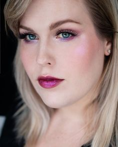 Click to get more inspiration!   Glossy makeup look using Rituel De Fille. Colorful, creative makeup for hooded eyes by Rebecca Shores  rebeccakshores.com