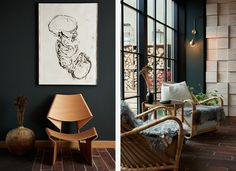Michelin-starred restaurant Kadeau opens a brand new space in the Danish Capital, designed by OeO studio Sisters Restaurant, Restaurant Bar, Restaurant Interiors, Wood Interior Design, Wine Cabinets, Great Hotel, Next Door, Wooden Furniture, Dining Area