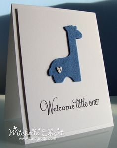 Baby Card in felt by The Card Grotto