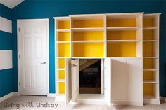 """How to Use a """"Built-In"""" Billy Bookcase to Hide an Eyesore"""