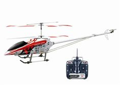 Worlds LARGEST GYRO RC HELICOPTER GYRO METAL 35CH RTF RC Helicopter 47 INCHES With 4 FREE SPARE BLADES Comes in Red or Blue ** Read more  at the image link.Note:It is affiliate link to Amazon.