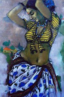 Sexy Painting, India Painting, Woman Painting, Figure Painting, Indian Women Painting, Indian Art Paintings, Drowning Art, Rajasthani Painting, Violin Art