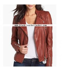 Dakota Johnson Brown Leather Jacket for sale at Discounted Price $189.00 Anastasia Steele Fifty Shades of Grey Movie Jacket.  #DakotaJohnson #AnastasiaSteele #FiftyShadesofGrey #leatherjacket #jacket #womenjacket #brownjacket #bikerjacket