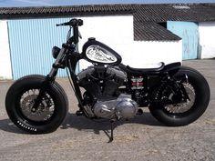 Fat Foot, Crazy Orange Japan Inspired Harley Davidson Sportster Bobber