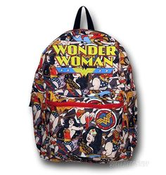 Wonder Woman Reversible Comic/Symbol Backpack