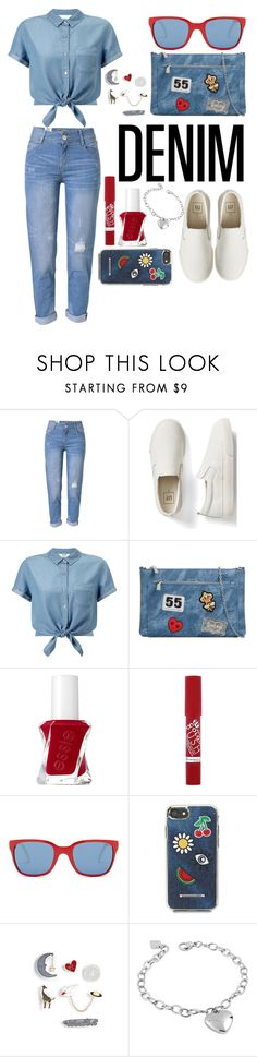 """Blue  Monday"" by lexisamskywalker ❤ liked on Polyvore featuring WithChic, Gap, Miss Selfridge, KoKo Couture, Essie, Rimmel, Polo Ralph Lauren, Rebecca Minkoff, Express and West Coast Jewelry"