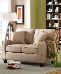 Look at this Beige Cotton Brusco Love Seat on #zulily today!