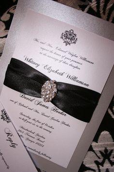 Wedding Invitation: Vintage Elegance Brooch Wedding Invitation. $5.50, via Etsy.