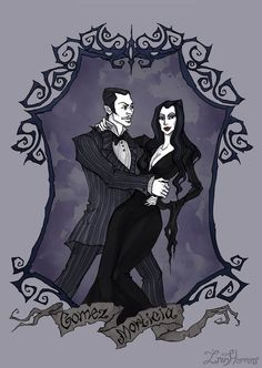May finally dropped out of the work schedule, I hope to catch up! So many plans, so little time Art prints available on ink fineliner, watercolor and a bit of Photosho. Die Addams Family, Adams Family, Dark Fantasy, Fantasy Art, Morticia And Gomez Addams, Abigail Larson, Gothic Art, Gothic Images, The Villain