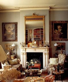 Lady Diana Cooper's apartment in London, not Paris. Drawing Room of Lady Diana Cooper - Little Venice London. Excerpts from The Englishwoman's Bedroom, Derry Moore photographer, Alvilde Lees- Milne-editor English House, English Style, French Style, English English, Interior Exterior, Interior Design, Diy Interior, Modern Exterior, Room Interior