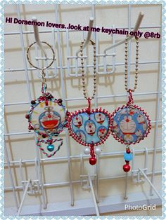 Clay keychain doraemon cover by wire...@10k