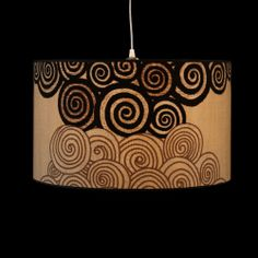 ø50cm lampshade, made of original fabric from the seventies.
