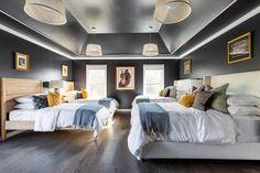 "TDS (Thurman Design Studio)'s Instagram profile post: ""Slumber party for adults lol! 🛌 ⠀⠀⠀⠀⠀⠀⠀⠀⠀ Design @thurmandesign⠀⠀⠀⠀⠀⠀⠀⠀⠀ 📷 @danielchristopherphoto⠀⠀⠀⠀⠀⠀⠀⠀⠀ .⠀⠀⠀⠀⠀⠀⠀⠀⠀ .⠀⠀⠀⠀⠀⠀⠀⠀⠀…"" Funky Sofa, Teal Walls, Conceptual Design, Big Family, Guest Suite, White Bedding, Design Consultant, Architecture Details, Design Trends"