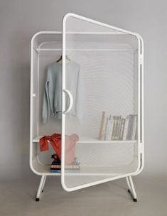 Harold is a minimalist design created by Netherlands-based designer Jesse Visser. A expanded metal cabinet that can be used as wardrobe as well as storage for offices.