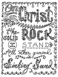Hymn-spirations 3 to color Instant downloads You be the Artist Christian art to download