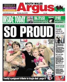 @southwalesargus FRONT PAGE 03.06.13: Family pay tribute to tragic Newport dad