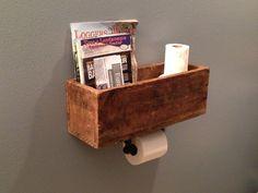 DIY magazine rack & toilet paper dispenser: Bathroom Magazines, Diy Magazines, Bathroom Diy
