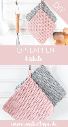 Crochet Instructions: Crochet simple potholders for beginners with half double crochet – with video instructions # crochet # potholders Stitch Crochet, Crochet Motifs, Crochet Potholders, Knit Crochet, Blog Crochet, Crochet Ideas, Free Crochet, Crochet Pattern, Easy Knitting Projects