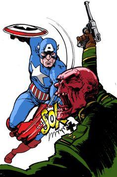 Captain America vs. Red Skull - Simon Fraser