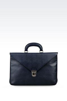 a6b18fe98576 Flat Briefcase in Saffiano