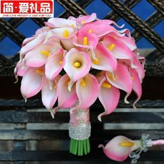 wedding flower centerpieces | pcs janelove natural touch pu leather calla lily silk flowers wedding ...
